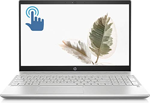 "HP Pavilion Premium Laptop Computer PC, 15.6"" Full HD IPS Touchscreen Display, 10th Gen Intel Quad-Core i5-1035G1, 8GB DDR4 256GB PCIe SSD Backlit Keyboard WiFi HDMI USB-C BT 5.0 HD Webcam Win 10"