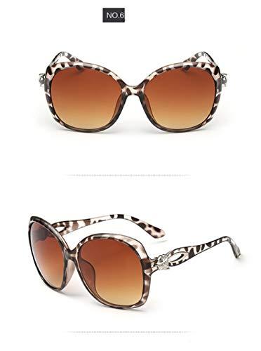 QPRER Sonnenbrille,Polarisierte Sonnenbrille Mit Leopardenmuster Retro Brillenschutz Für Mädchen Mode Acryl Spiegel Brille Sexy Damen Elegante Party Accessoire Freund Geburtstagsgeschenk