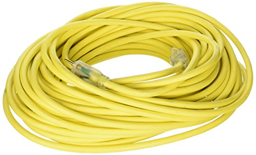 US Wire and Cable 74100 Extension Cord, 100ft, Yellow