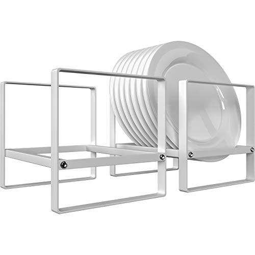 Ganamoda Tellerhalter, vertikal, Metall, Abtropfgestell, für Küchentheke, Schrank,...