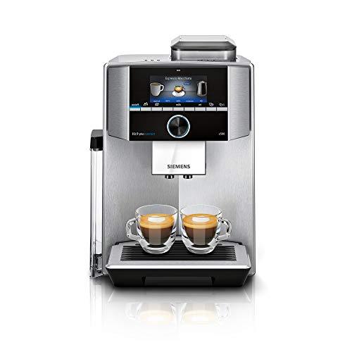 Siemens EQ.9 plus connect s500 Kaffeevollautomat TI9558X1DE, automatische Reinigung, Personalisierung, extra leise, 1.500 Watt, Edelstahl