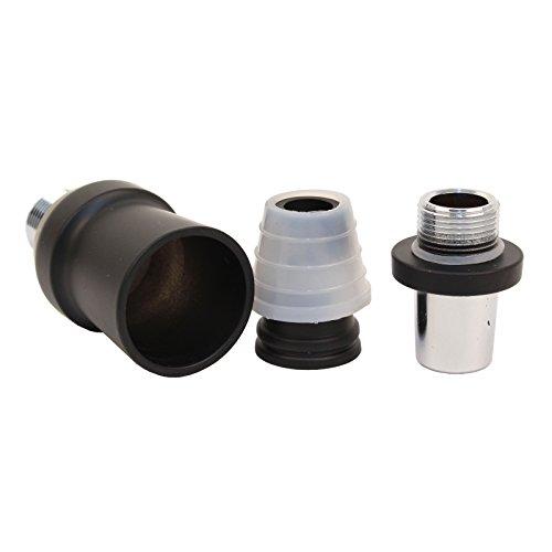 Caesar Shisha Adapter-Set für Molassefängersäule | für Wasserpfeifen mit 18-Schliff | Matt Black