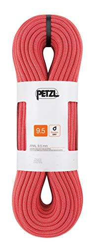 PETZL Arial 9.5 mm, Corda Unisex-Adulto, Rosso, 80 m
