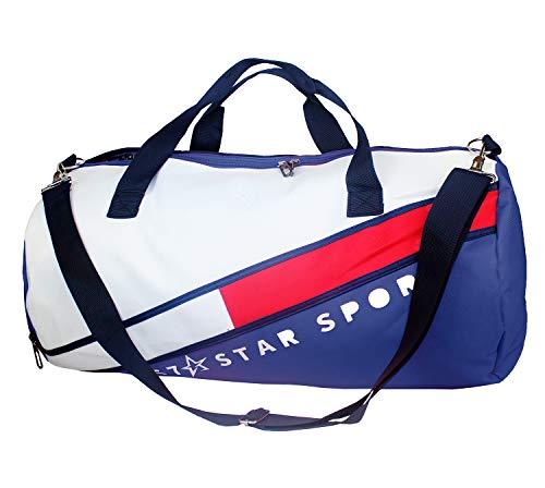 MASMAS Bolso Deportivo de Gran Capacidad para Gimnasio Correr Hacer Deportes Bolsa Impermeable Baloncesto Fitness Hombres Mujeres Unisex (Azul)