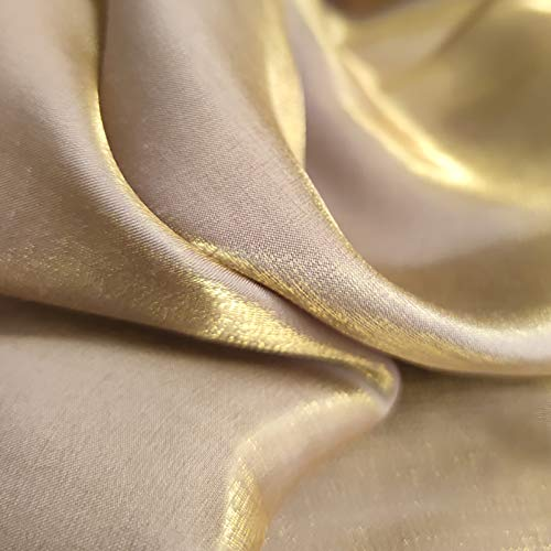 MUYUNXI Tela De Raso Forro De Tela para Vestidos De Novias Fundas Artesanas Vestidos Blusas Ropa Interior 150 Cm De Ancho Vendido por 2 Metro(Color:Lavanda de Seda Dorada)