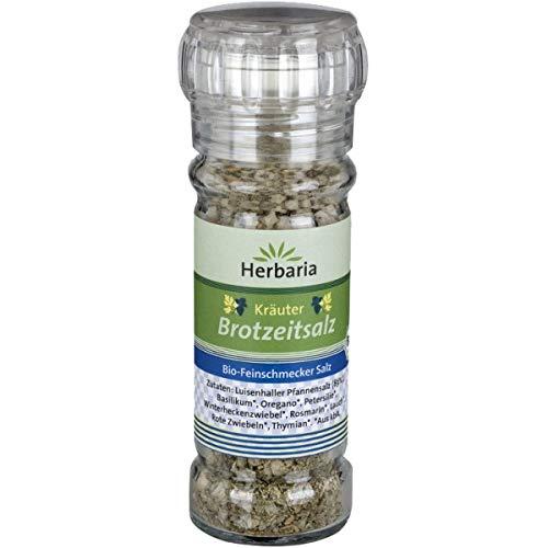 Herbaria Kräuter-Brotzeitsalz in der Gewürzmühle (75 g) - Bio