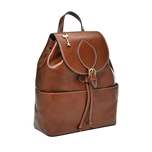 Fossil Women's Luna Leather Backpack, Brown, 12' L x 5.63' W x 14.38' H