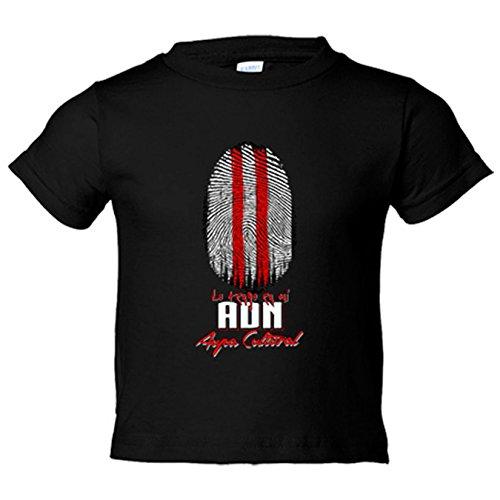 Camiseta niño lo tengo en mi ADN Cultural fútbol - Negro, 9-11 años