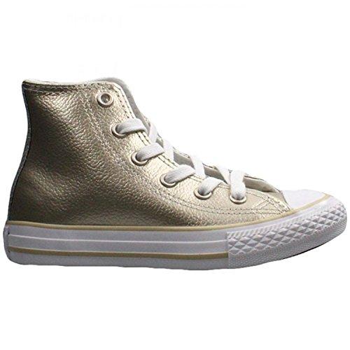 Converse Youth CTAS HI Light Gold/White/White