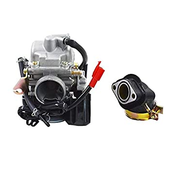 Mingdun Carburetor & Intake Manifold Boot For Yerf Dog Spiderbox GY6 150cc GX150 Go Kart