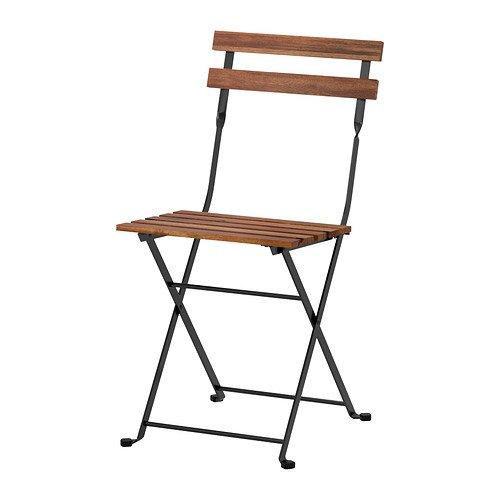 NOUVEAU TÄRNÖ IKEA Chaise d'extérieur, pliable acacia noir, teinté gris-brun