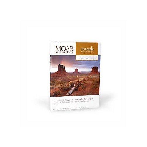 Moab Entrada Rag Bright 190g erb190a325Papier aus Baumwolle für Tintenstrahldrucker, A3+, weiß beleuchtet 25Blatt