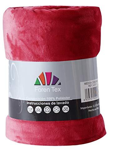 Foren Tex - Manta de sedalina, (S-3093), Ultra Suave, microseda, para abrigarte con Estilo y Confort, 130 x 150 cm No Suelta Pelo. para sofá y Cama.