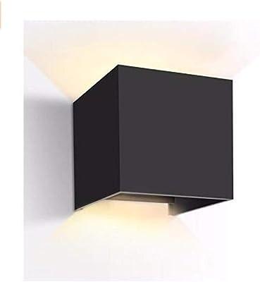 Divgdovg 12W LED Apliques De Pared,Lamparas Exterior Impermeable IP65 Lamparas para Dormitorios,Salon,jardín Pasillo Camino Porche brillante Negro 12W blanco cálido: Amazon.es: Iluminación