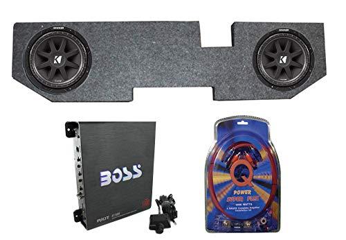 "Kicker 43C104 10"" 600W Subwoofers+for Dodge Ram Quad 02-Newer Box+Amp+Wiring"