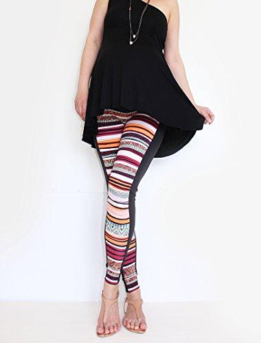Mia maternity - Leggings spécial grossesse - Femme orange stripes L