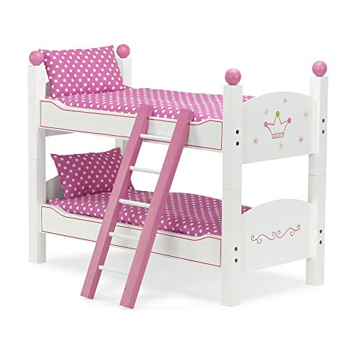 18 Inch Doll Bunk Bed For American Girl Dolls 2 Single Doll Beds Stackable Doll