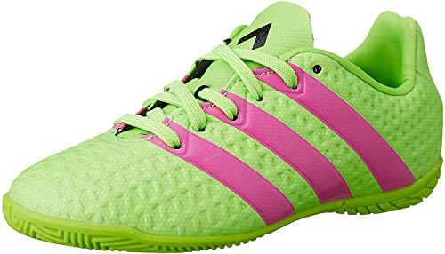 adidas Ace 16.4 in, Scarpe da Calcetto Unisex Bambino, Multicolore (Verde/Rosa/Negro (Versol/Rosimp/Negbas), 32