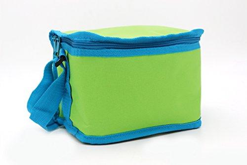 Leyendas Lunch Bag Bolsa Nevera Termica Porta Alimentos 2 litros Tamaño Capacidad de 6 latas, Transporte de Bebidas Frías o Alimentos. (Verde)