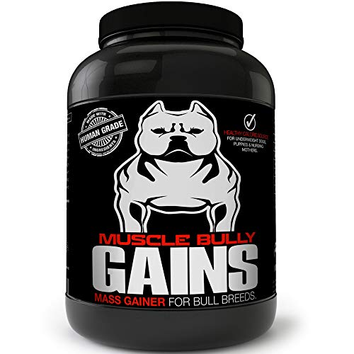 Muscle Bully Gains - Mass Weight Gainer, Whey Protein for Dogs (Bull Breeds, Pit Bulls, Bullies) Increase Healthy Natural Weight, Made in The USA (194 Servings (Best Value))