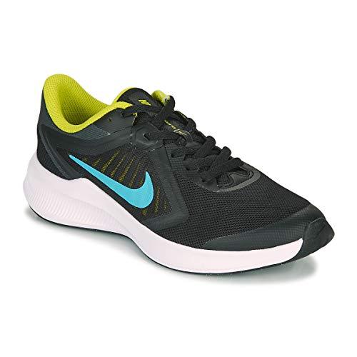 Nike Downshifter 10 (GS), Zapatillas para Correr, Schwarz Gelb, 36 EU