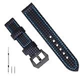 Grande Cinturino in Pelle 26mm Cinturino in Pelle Cinturino in Pelle Nera Cinturino in Pelle Premium Cinturino Per Uomo Compatibile con Panerai