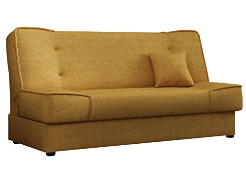 Mirjan24 Schlafsofa Gemini mit Bettkasten, 3 Sitzer Sofa, Couch mit Schlaffunktion, Bettsofa Schlafsofa Polstersofa Farbauswahl Couchgarnitur (Enjoy 12)