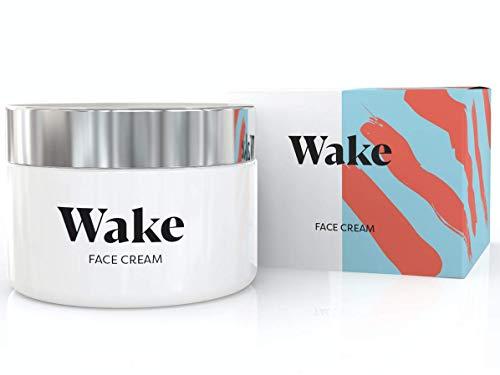 Wake Skincare Gesichtscreme -Effektive Anti-Falten-Feuchtigkeitscreme mit natürlichen Antioxidantien und aktiven Anti-Aging-Eigenschaften zur Verringerung von Falten - 50ml
