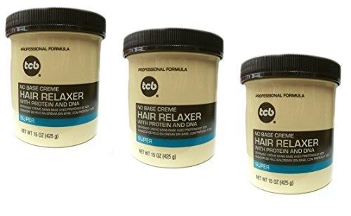 3x Relaxer/Glättungscreme TCB No Base Creme Hair Relaxer SUPER 425g (insgesamt - 1275g)