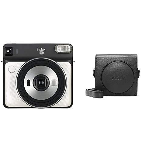 Fujifilm Instax SQ 6 EX D Sofortbildkamera, Pearl Weiß & SQ6 Tasche, Schwarz