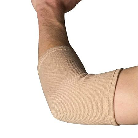 Dr. Pillow Elastic Elbow Support Compression arm sleeve for training, weightlifting, tennis, basketball and rest sports, to reduce tendonitis and carpal tunnel inflammation by Beautyko