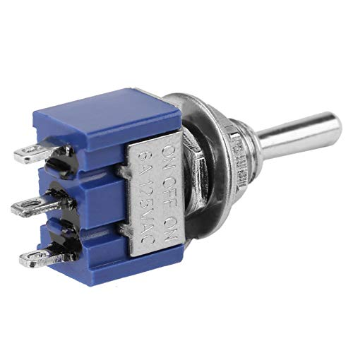Interruptor de palanca de 3 pines y 3 posiciones Interruptor de palanca ON-OFF-ON 125VAC 6A SPDT Interruptor de palanca, para electrodomésticos, para automóviles, para otras industrias