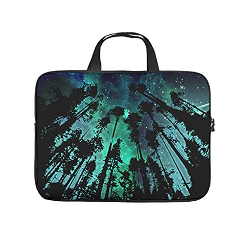 Facbalaign Funda para portátil con asa, diseño de Starry Sky Forest