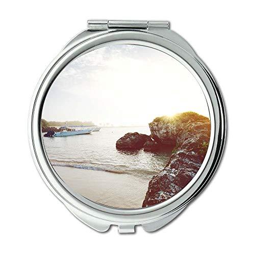 Yanteng Spiegel, Schminkspiegel, Strandboot Tageslicht, Taschenspiegel, tragbarer Spiegel