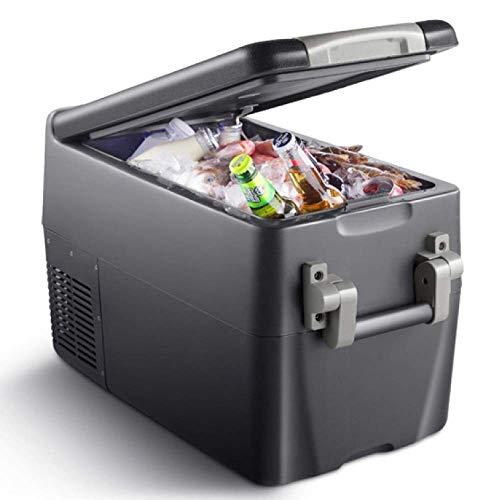 30L Mini Frigorífico Compresor Caja fría Camping Frigorífico Camión 24 V / 12 V / 110-240 V Enfriador de coche en deportes al aire libre para viajes en coche Viajes en casa Oficina Oficina Dormitorio