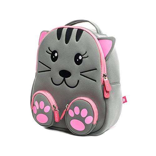 Kinderrucksack Kleinkind Tasche mit Brustgurt für 2-5 Jährige Jungen und Mädchen im Kindergarten oder Kita, Cat