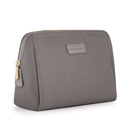 CHICECO Nylon Groß Kosmetiktasche Damen Schminktasche für Handtasche Kulturbeutel - Nylon Grau