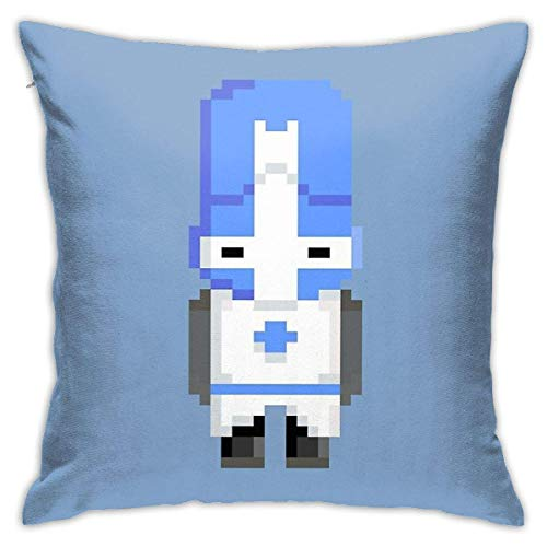 out Castle Crashers (Blue Knight) Pixel Cushion Throw Pillow Cover Decorative Pillow Case For Sofa Bedroom Fundas para Almohada 16x16Inch(40cmx40cm)