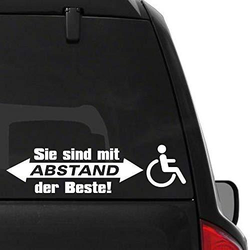 Pegatina Promotion Rollstuhlfahrer Rolli Sie sind mit Abstand der Beste 30cm Aufkleber,Autoaufkleber,Wandtattoo,Sticker,Netbook,UV& Waschanlagenfest,Profi Qualität,Laptop