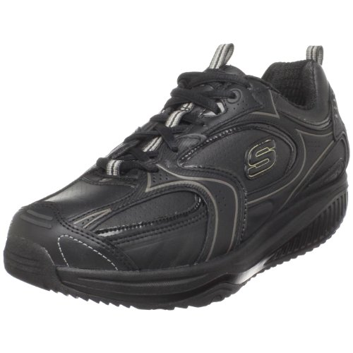Skechers Shape-ups XF Superstep 12322 BBK - Zapatillas de Fitness de Cuero para Mujer, Color Negro, Talla 39