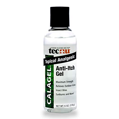 Tecnu Calagel Anti-Itch Gel, Maximum Strength Itch Relief for Rashes, Bug Bites, Stings and Minor Burn Relief, 6 oz