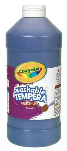 Crayola Washable Tempera Paint, Dark Blue Kids Paint, 32 Ounce Squeeze Bottle