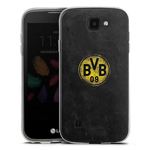 DeinDesign Silikon Hülle kompatibel mit LG K3 (2017) Hülle transparent Handyhülle Borussia Dortm& BVB Fanartikel