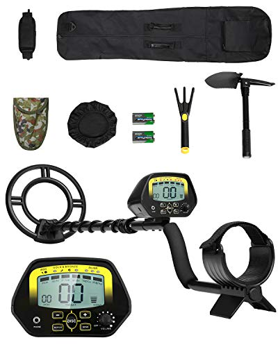 MARNUR Metal Detector Kit for Kids and Adults with Waterproof Search Coil Backlight LCD High Accuracy Adjustable Sensitivity Height DISC Notch Mode Full Accessories Treasure Hunt Easy Operation