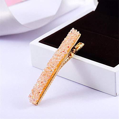 1 stuk bling kristal strass haarspelden hoofdwear voor vrouwen meisjes strass haarspelden haarspeld styling gereedschap accessoires oranje
