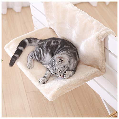 Kat Bed Verwijderbare Vensterbank Kat Radiator Lounge Hangmat Kitten Gezellige Hangende Huisdier Bed Seat, Beige
