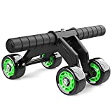 HOUSWOUKER Ab Roller Wheel for Abs Workout, 4 Wheel Exercise Equipment for Home Gym, Fitness Ab...
