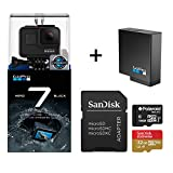 GoPro Hero 7 Black Action Camera + Extra USA Battery + Sandisk 32GB...