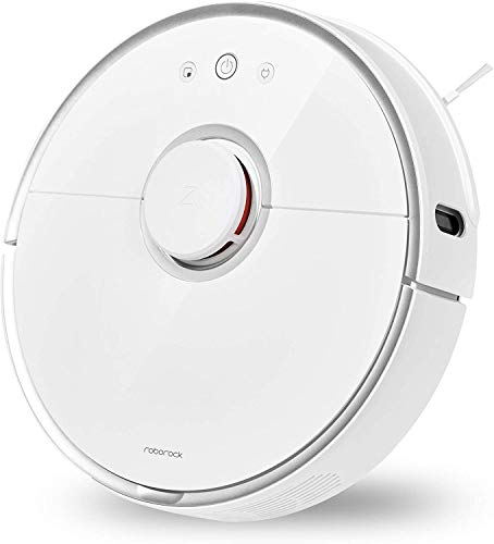roborock S5 Robot Vacuum and Mop, 2000Pa Super Power Suction &Wi-Fi Connectivity and Smart Navigating Robotic Vacuum Cleaner with 5200mAh Battery Capacity for Pet Hair, Carpet & Hard Floor (White)