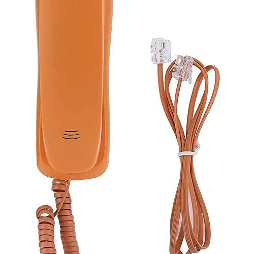 zhaita Teléfono con cable, oficina en casa, teléfono delgado portátil, teléfono de...
